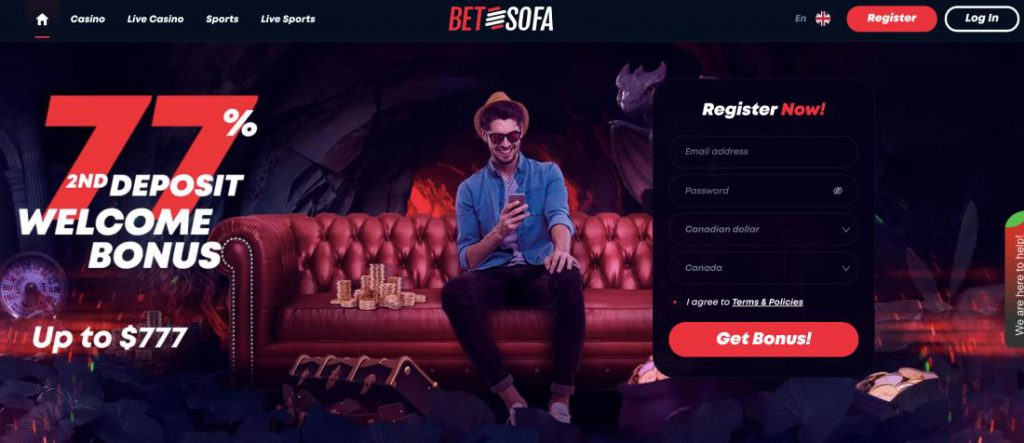 BetSofa Canada Review Best Canadian Site
