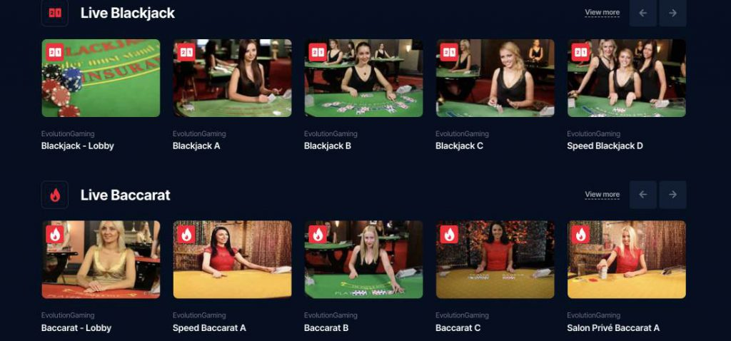 BetSofa Live Casino and Table Games